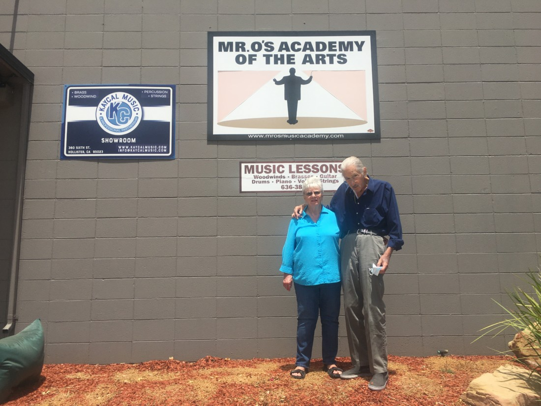 Frances and Joe Ostenson, proprietors of Mr. O's Academy of the Arts in Hollister. Photo by Andrew Pearson.