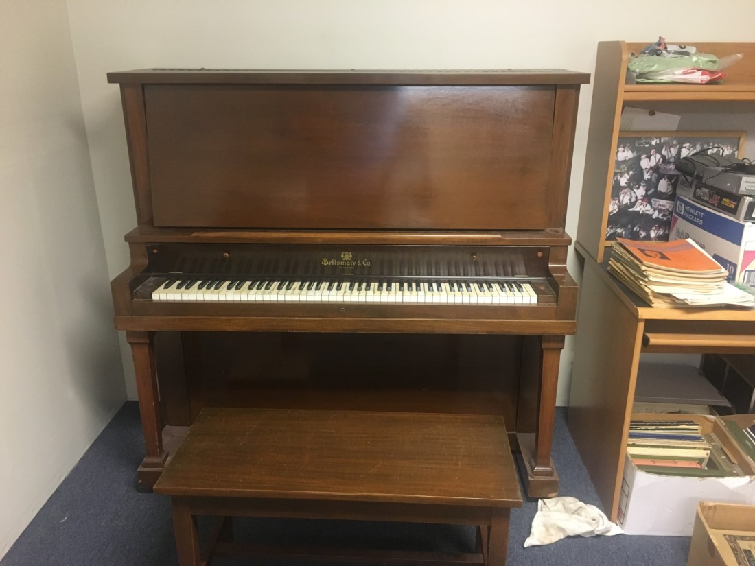 Piano available for pickup at the academy. Photo by Andrew Pearson.