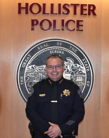 Photo of Hollister Police Department Interim chief Carlos Reynoso.
