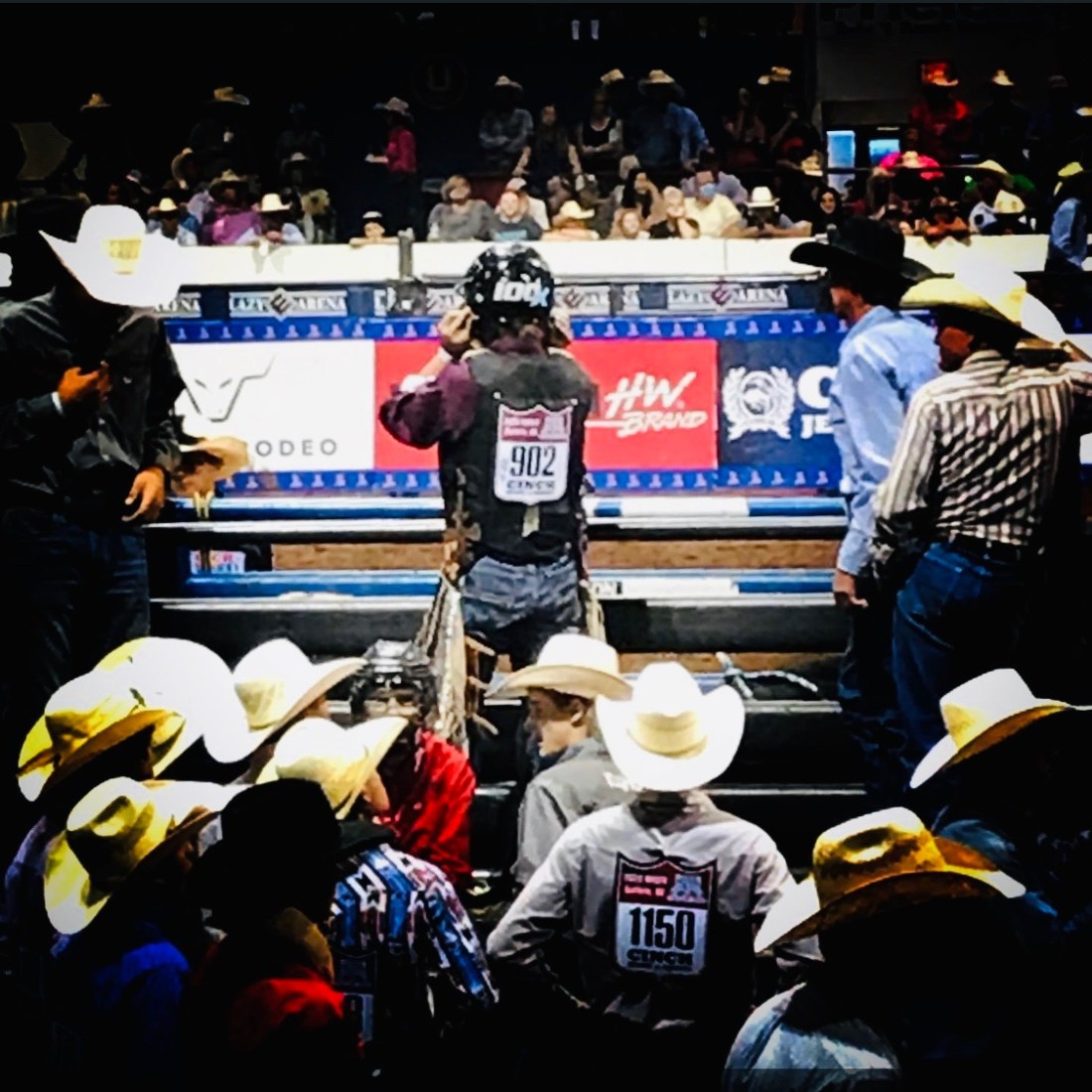 Moore competing at the National High School Rodeo Association Finals in Guthrie, OK. Photo courtesy of Kenneth Moore.