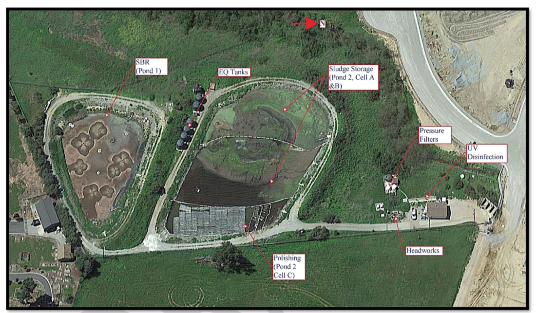San Juan Bautista Waste Treatment Plant. Image from Draft Report.