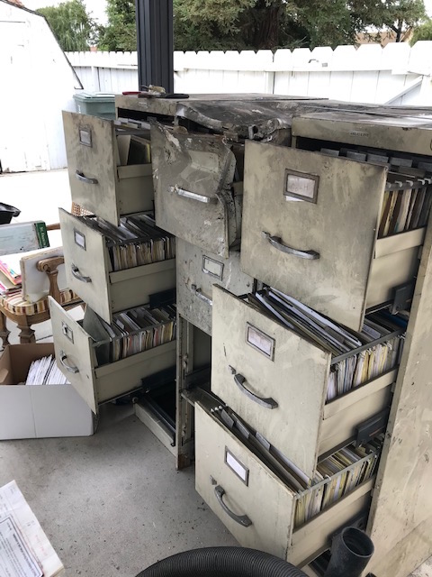 File cabinets damaged during the July 12 fire. Photo courtesy of Kathy Johnson.
