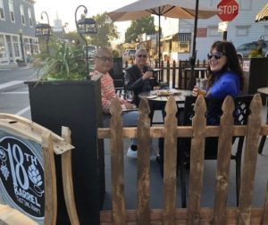 Diners at the parklet outside 18th Barrel. Photo courtesy of Rebecca Pearson.