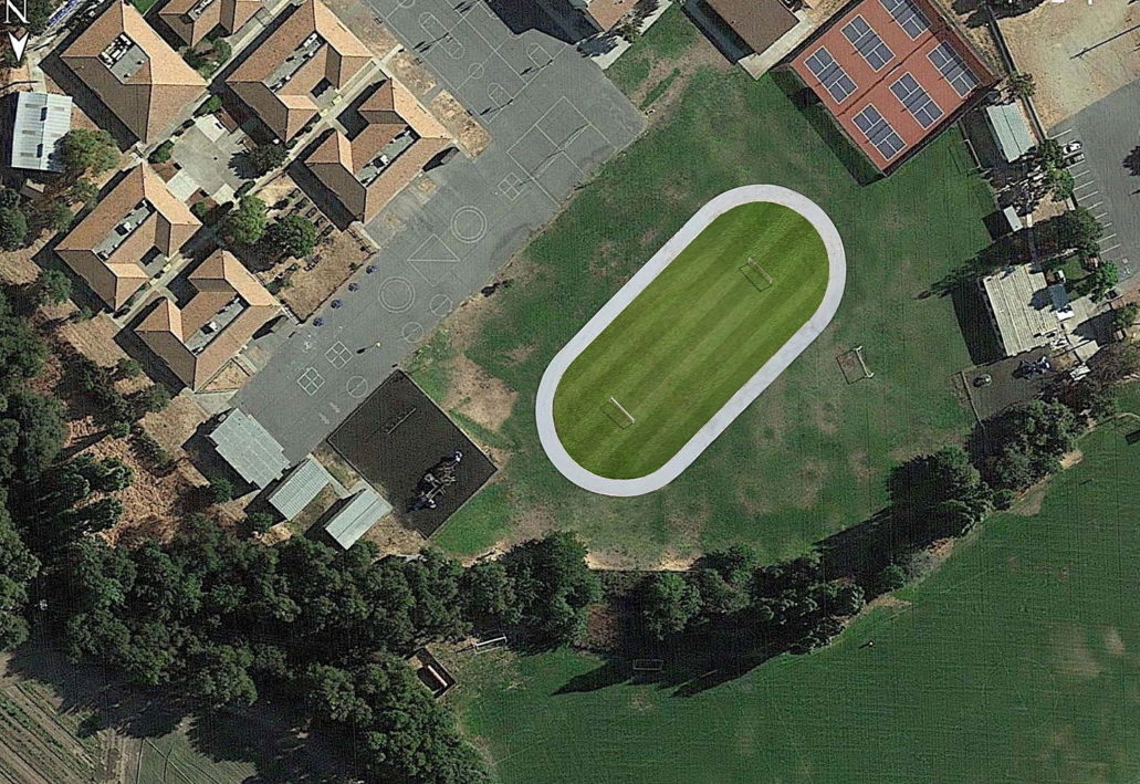 Proposed location of the running track. Photo courtesy of San Juan Home and School Club.