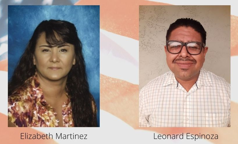 Elizabeth Martinez and Leonard Espinoza.