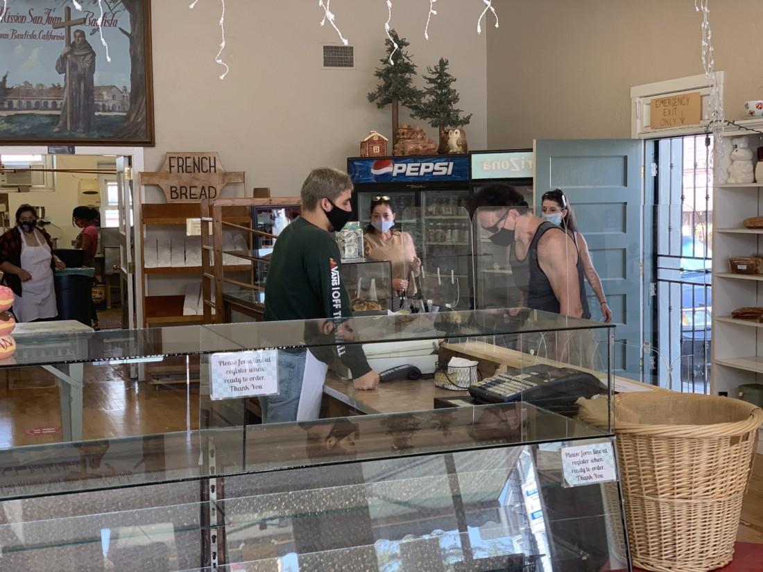 San Juan Bakery on reopening day. Photo by Robert Eliason.