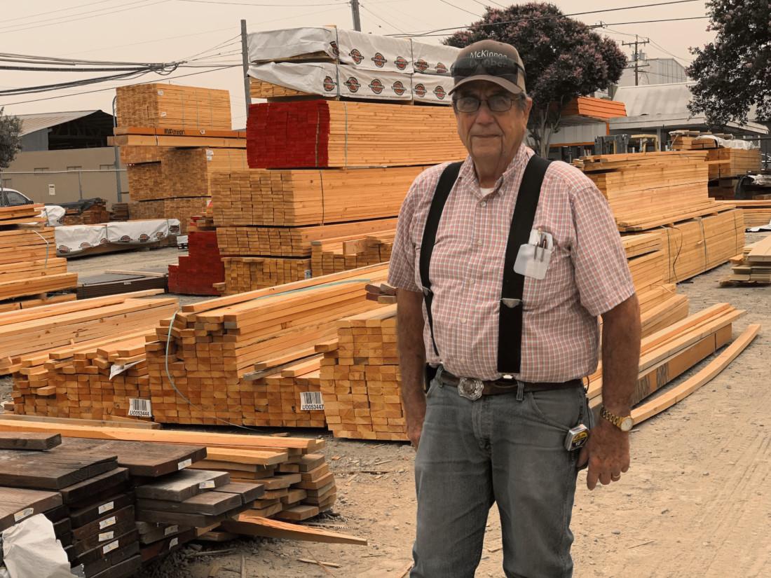John Barrett, owner of McKinnon Lumber Company. Photo by Robert Eliason.