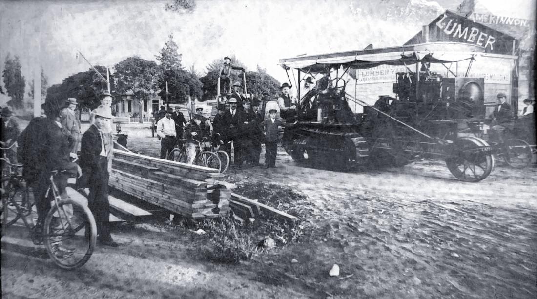 Early photo of McKinnon Lumber Company. Photo courtesy of John Barrett.