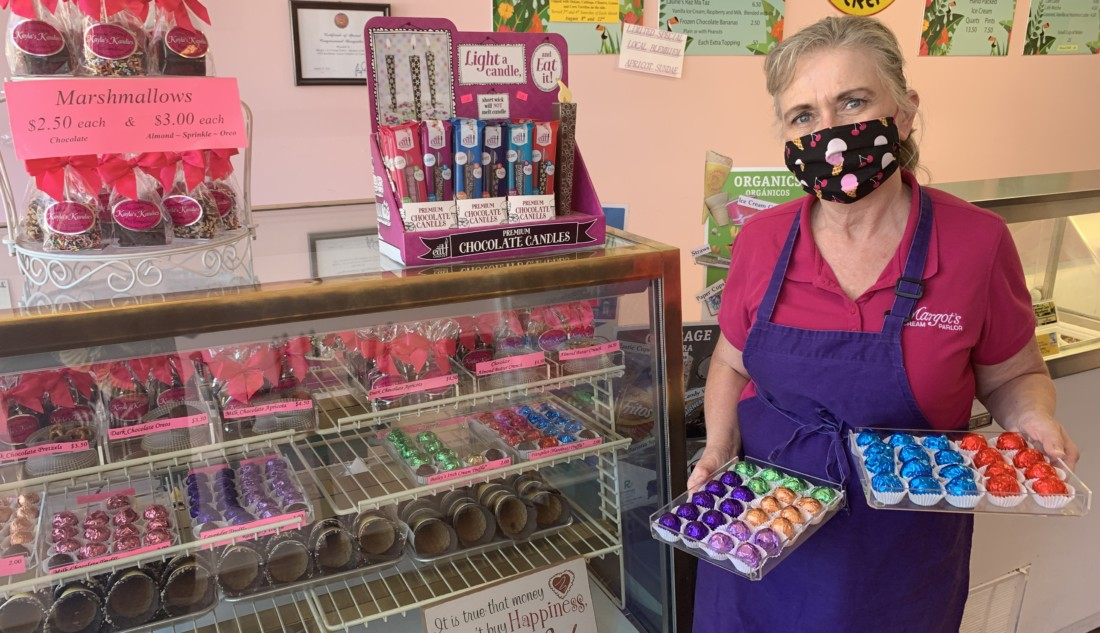 Margot Tankersley of Margot's Ice Cream Parlor in San Juan Bautista. Photo by Robert Eliason.