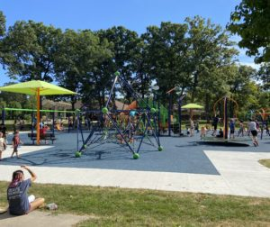 Company-sponsored park in Neenah, Wisconsin. Photo provided by Kollin Kosmicki.