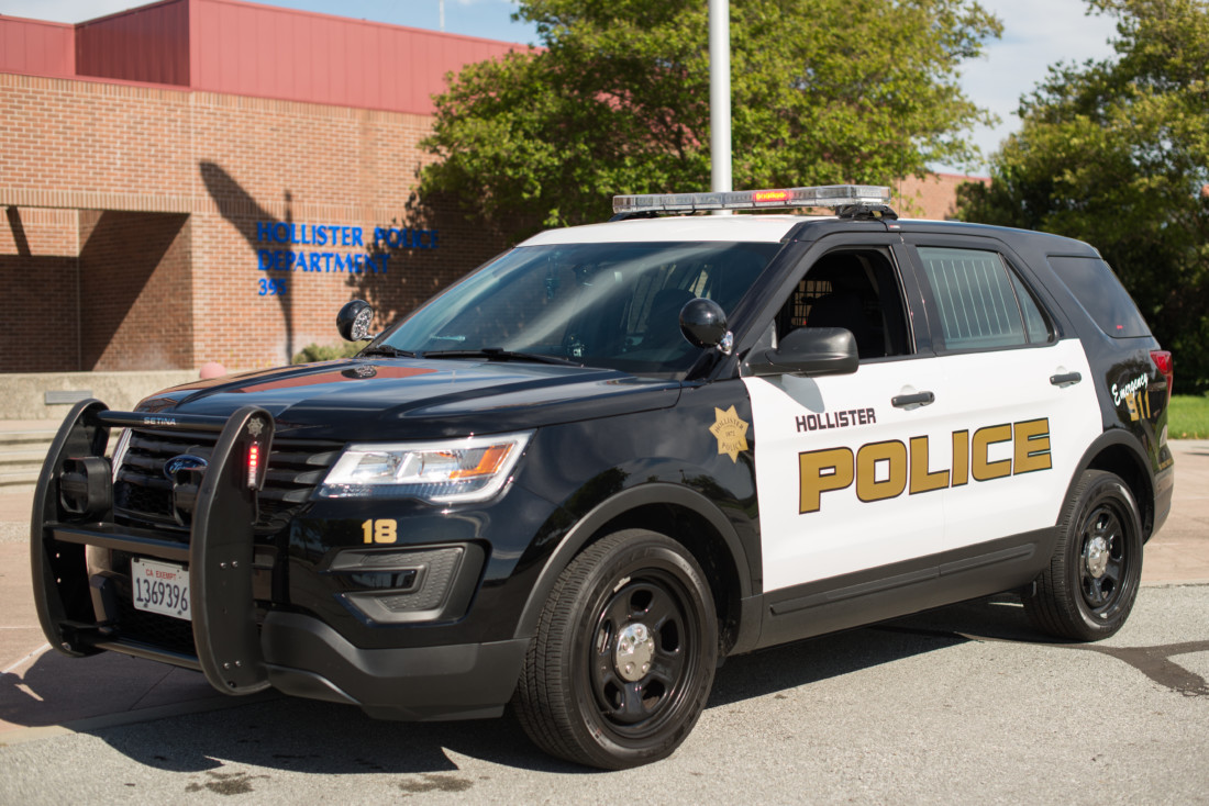 Hollister Police Department vehicle. BenitoLink photo