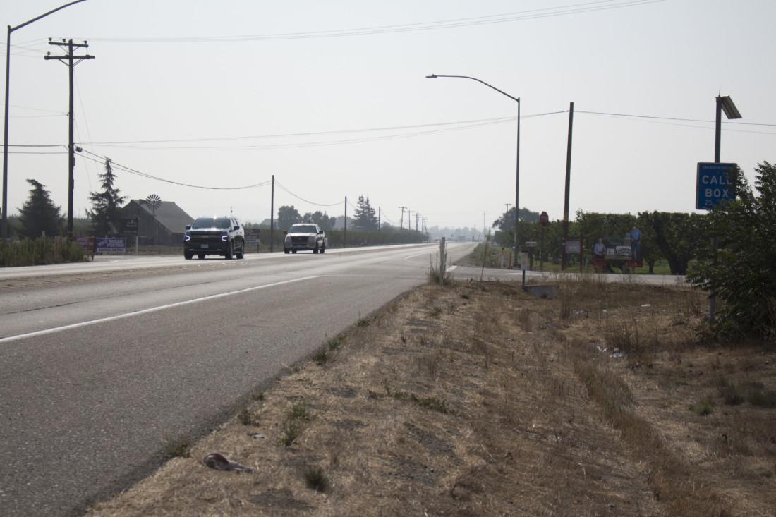 Highway 25 near Briggs Road. Photo by Noe Magaña.