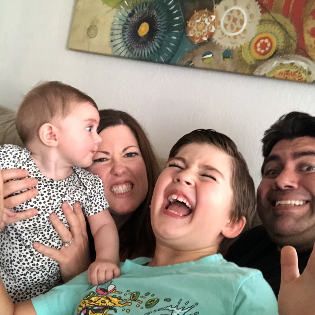 Brayden Romo's family fun picture. Photo courtesy of Bryan Feci.