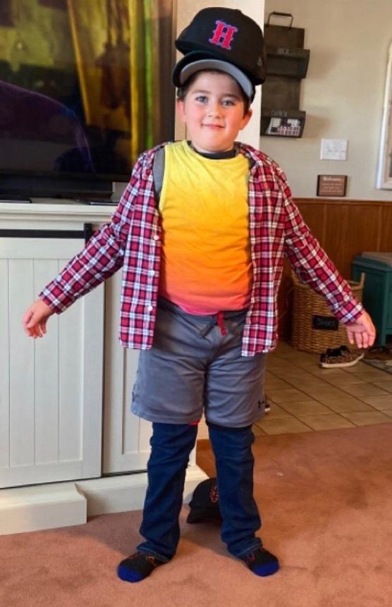 Scout Brayden Romo's clothing challenge. Photo courtesy of Bryan Feci.