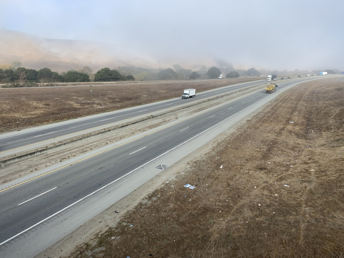 Highway 101 from the Betabel exit. Photo by Robert Eliason.