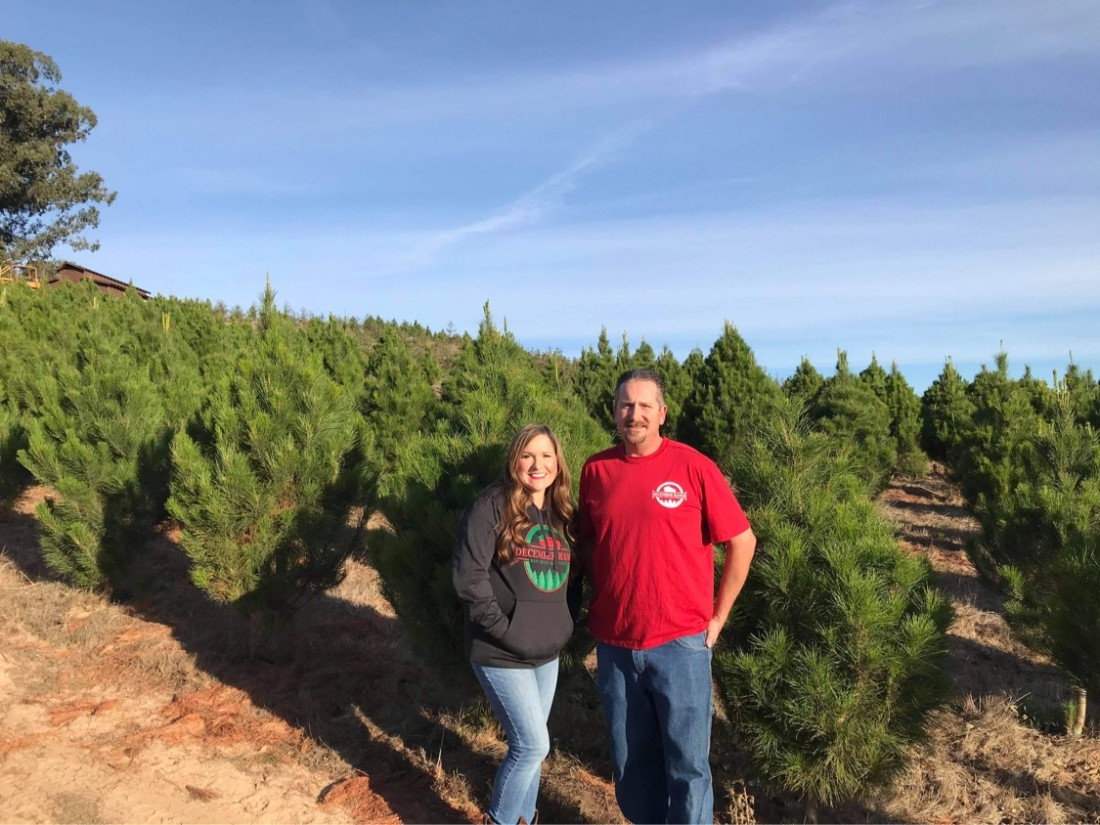 Lisa and Dan O'Callaghan of December Ranch Christmas Trees. Photo courtesy of December Ranch.