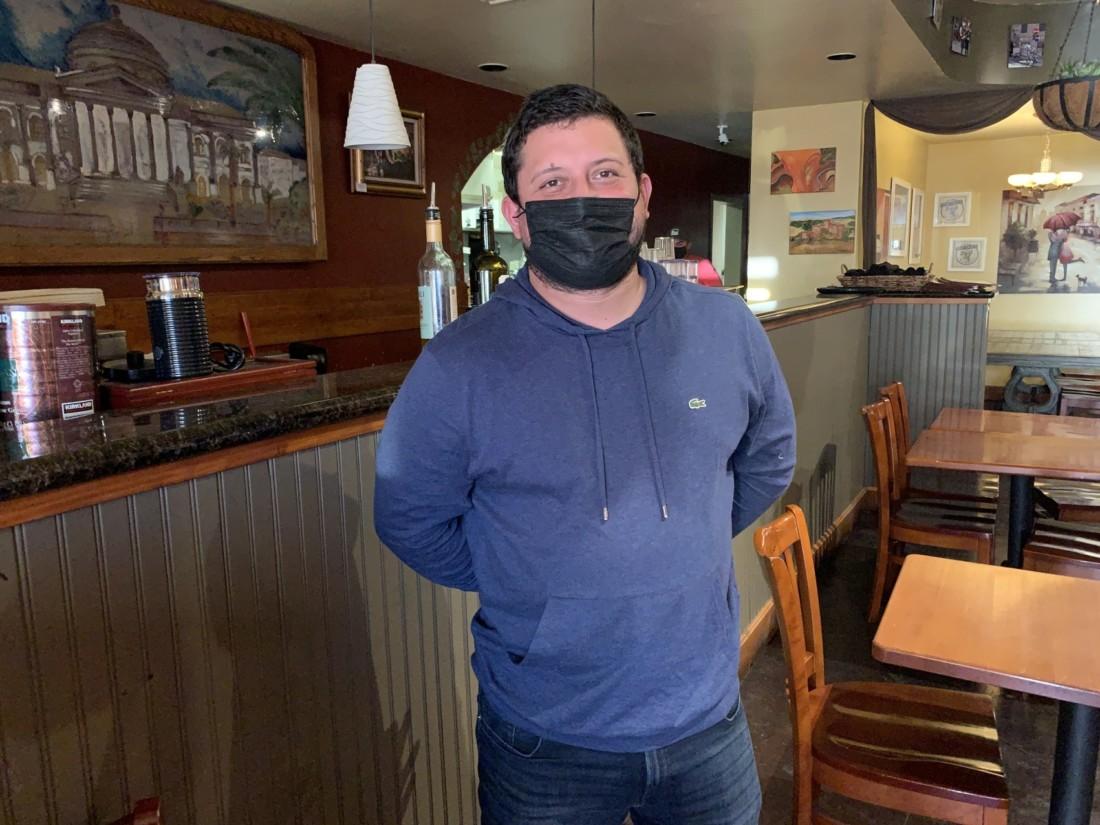 Raul Escareno, co-woner of Mangia Italian Restaurant. Photo by Robert Eliason.