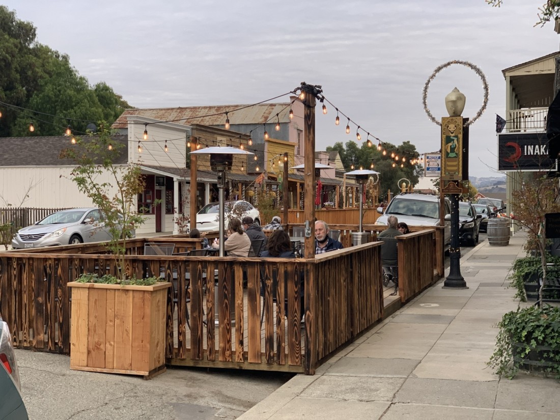 Inaka's parklet in San Juan Bautista. Photo by Robert Eliason.