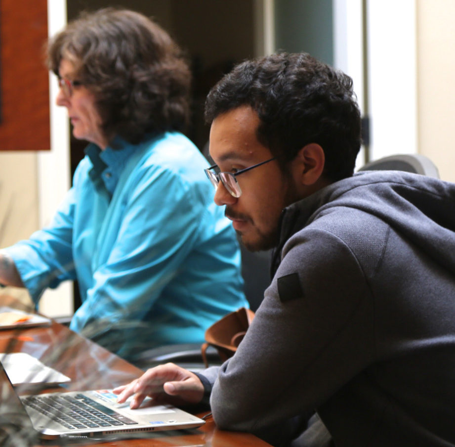 Francisco Romero (foreground) came to BenitoLink as an intern in 2019. BenitoLink file photo.