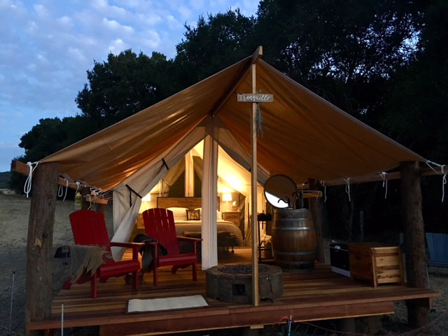 SBALT is auctioning a glamping experience at Rancho Tranquillo. Photo courtesy of Kathleen Sheridan.