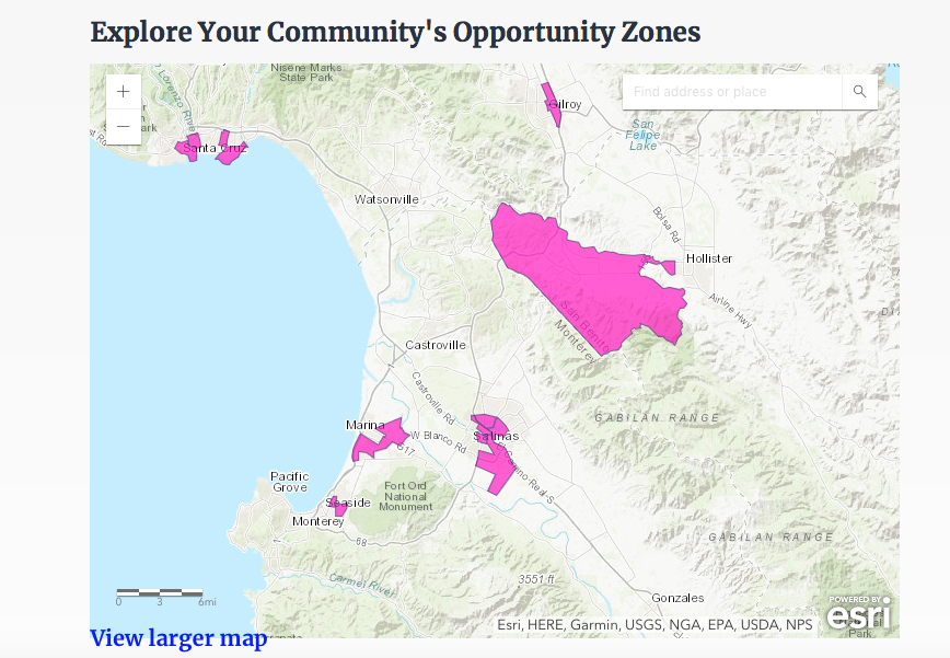 Image of Opportunity zones.