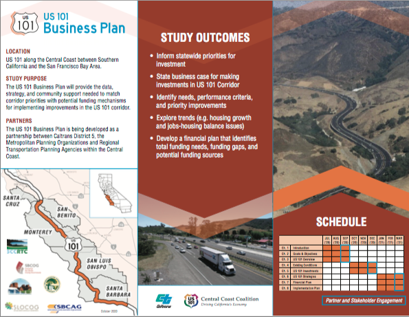 A slide from Caltrans U.S. 101 Business Plan. Image courtesy of Caltrans.