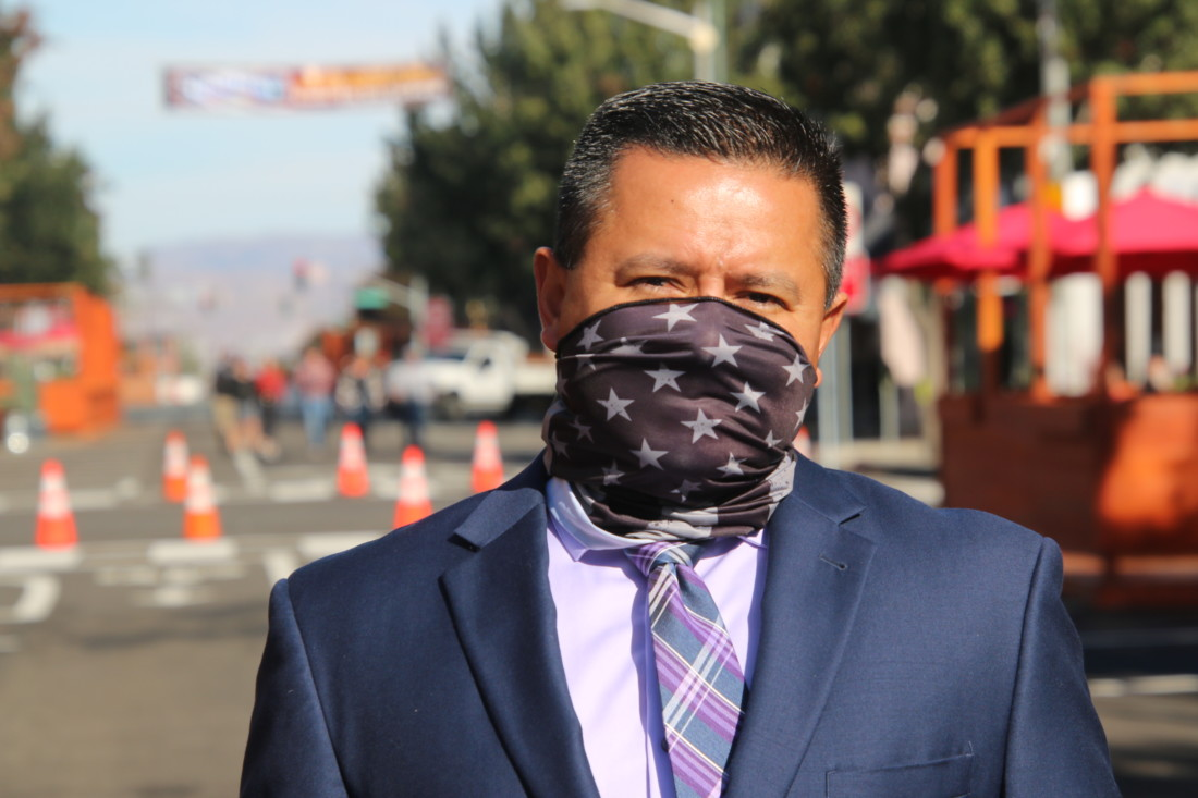 Supervisor Peter Hernandez described downtown business owners as warriors fighting to stay in business. Photo by John Chadwell.