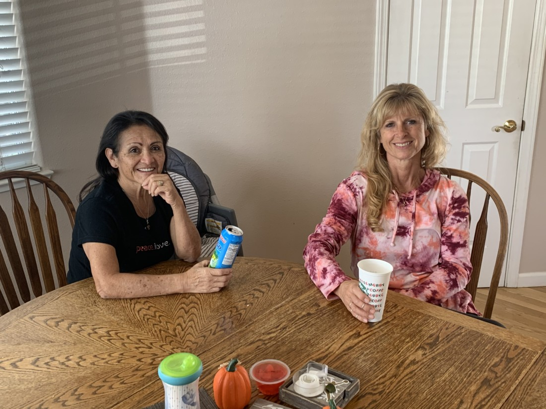 Sylvia DeLuna and Melanie Burns have become friends since sharing their experiences working as bus drivers for San Benito High School. Photo courtesy of Melanie Burns.