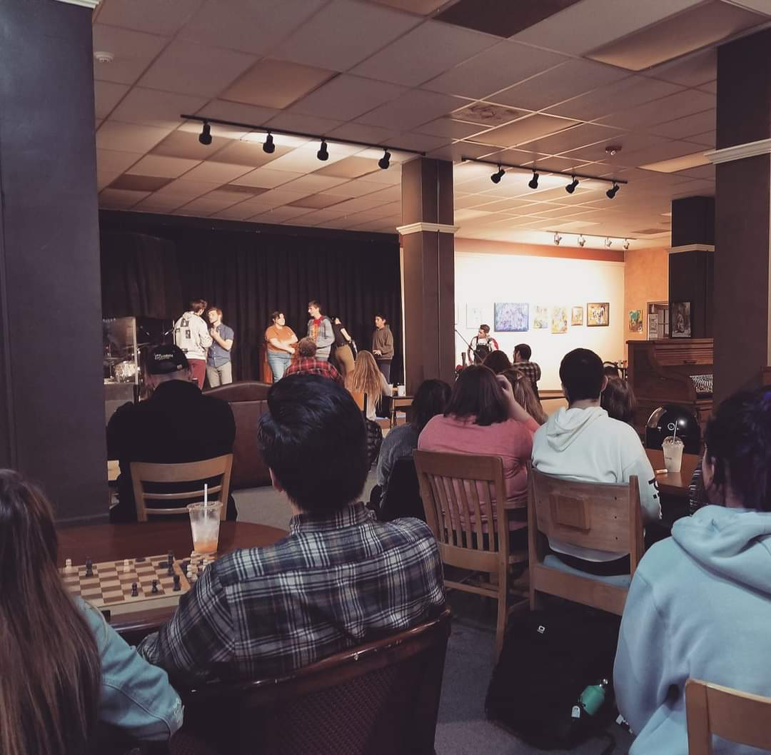 An improvisational comedy group performs at Mars Hill. Photo courtesy of Angela Prak.
