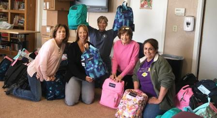 Women's Club of Hollister members finished packing backpacks. Photo courtesy of the Women's Club of Hollister.