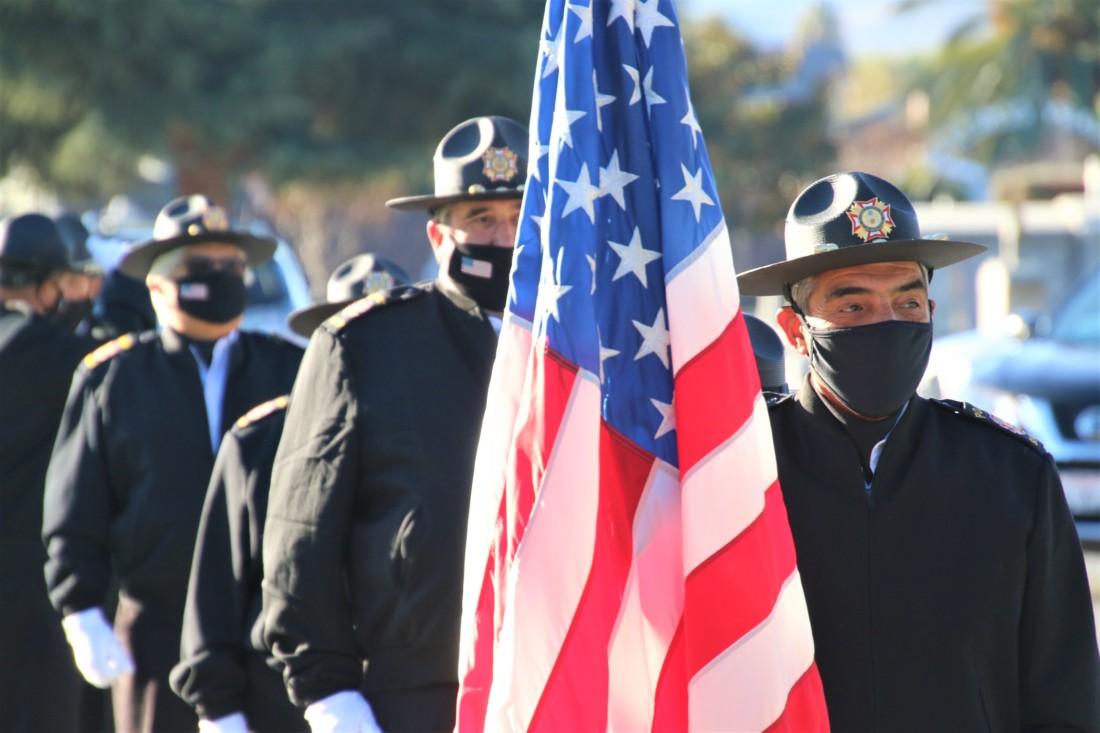 VFW 9242 Honor Guard. Photo by John Chadwell.