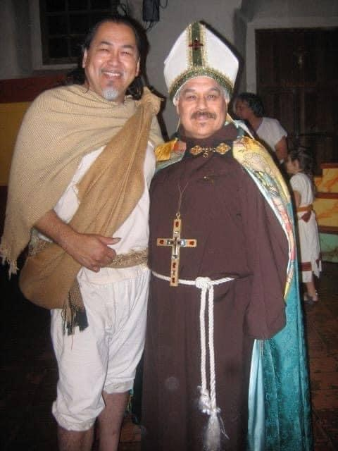 Noe Montoya and Luis Valdez. Photo courtesy El Teatro Campesino