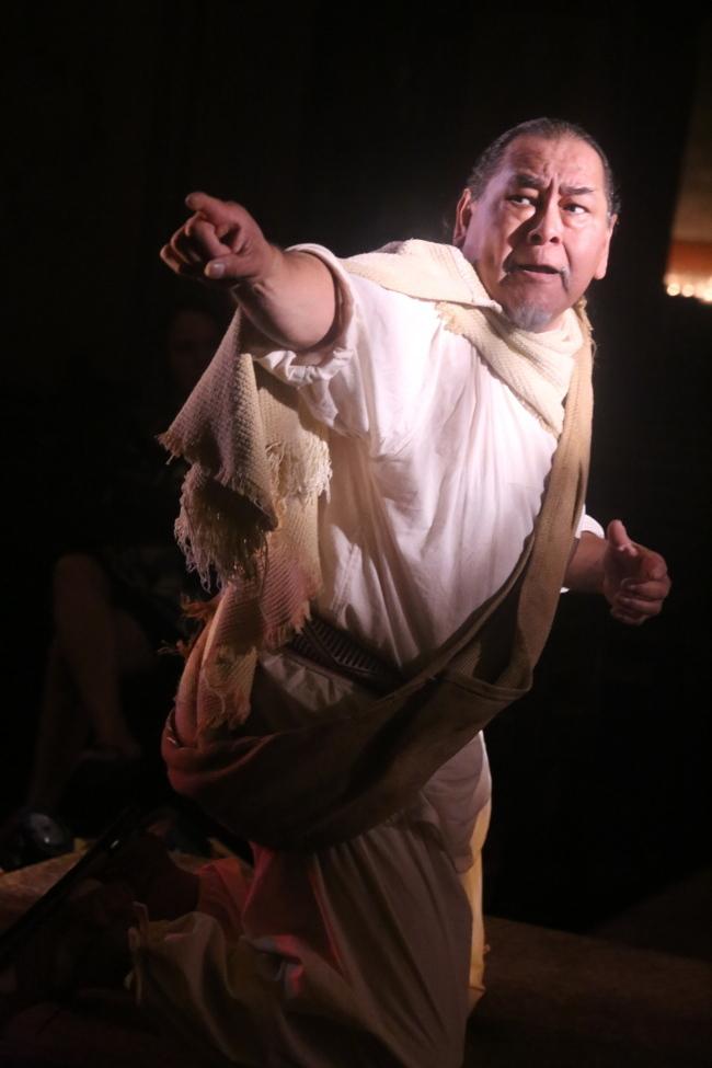 Noe Montoya as Juan Diego. Photo by Robert Eliason