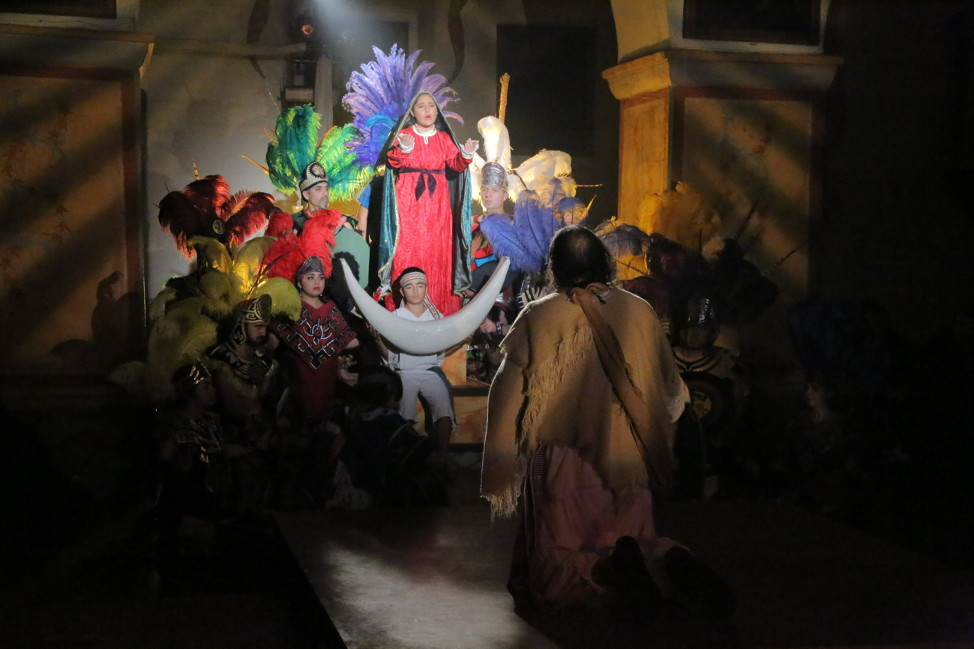 A past production of El Teatro Campesino's 'La Virgen de Tepeyac.' Photo by Robert Eliason.