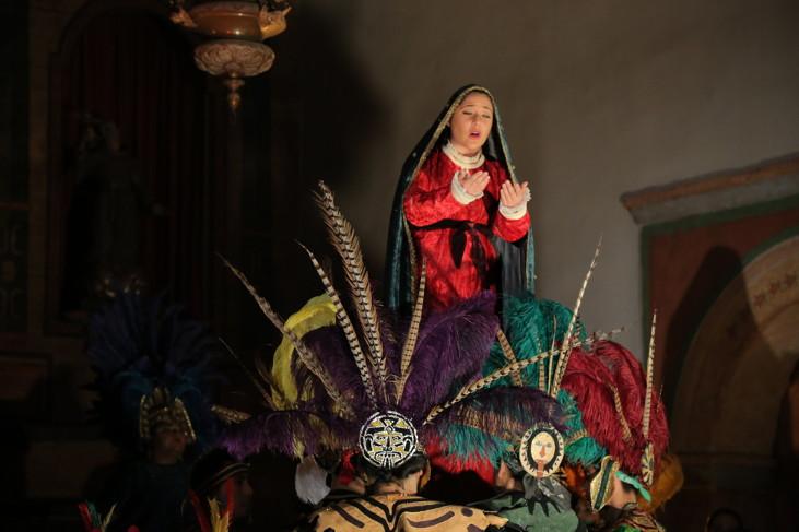 Stephani Candelaria as La Virgen de Tepeyac. Photo by Robert Eliason.
