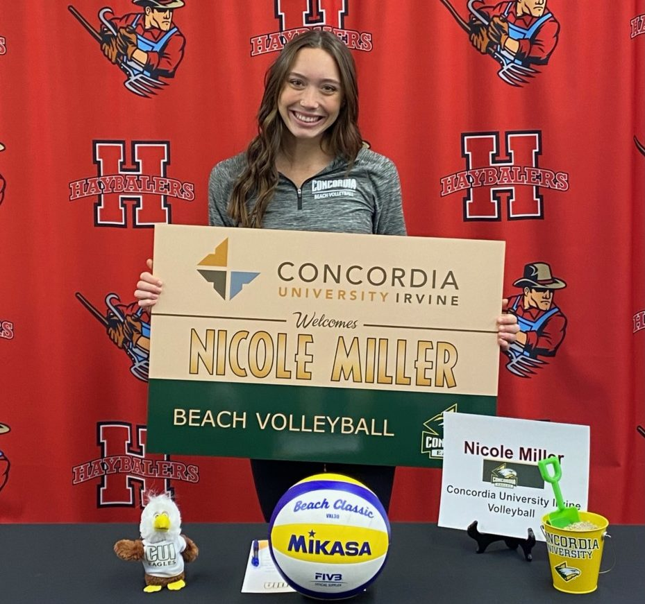 San Benito High School senior Nicole Miller recently signed to play beach volleyball with Concordia University. Photo courtesy of SBHS.