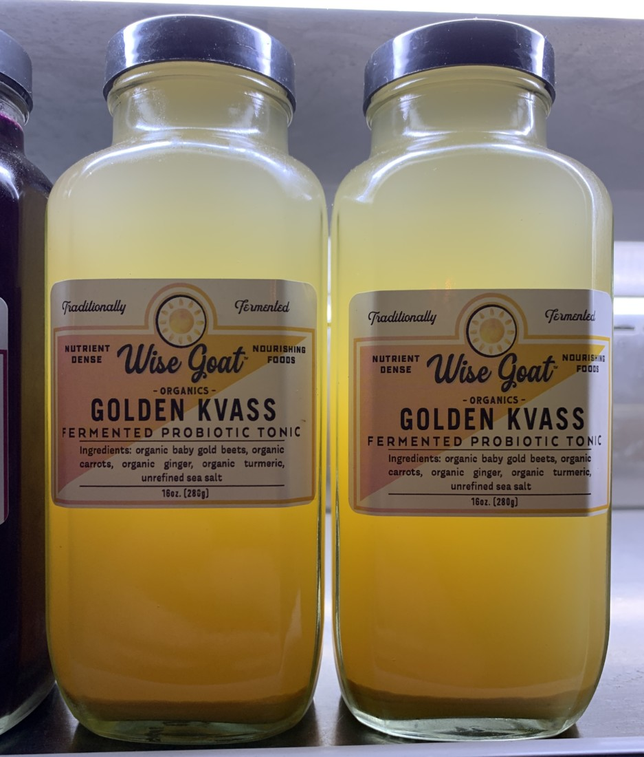 Wise Goat Golden Kvass. Photo by Robert Eliason.