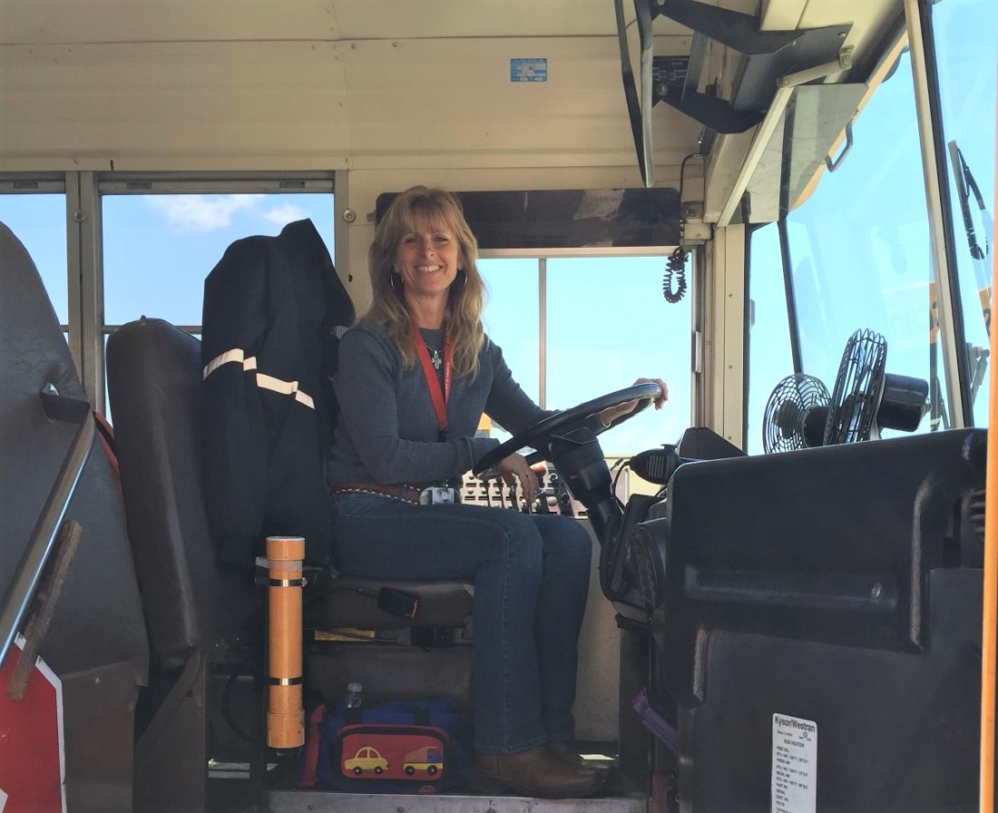 Melanie Burns drove school buses for SBHS for six years. Photo courtesy of Melanie Burns.