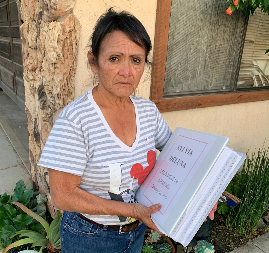 Sylvia DeLuna said she was stunned at the amount of materials presented to justify her termination. Photo courtesy of Melanie Burns.