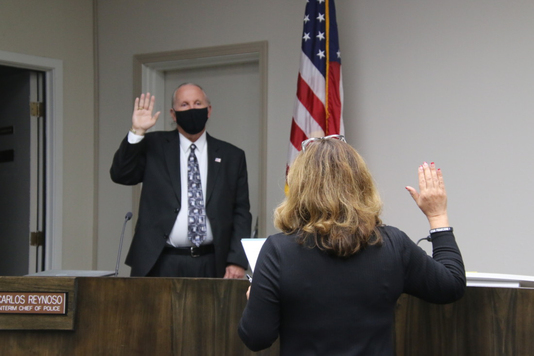 Tim Burns, elected as District 4 councilman, said he looks forward to being part of the solution in difficult times. Photo by John Chadwell.