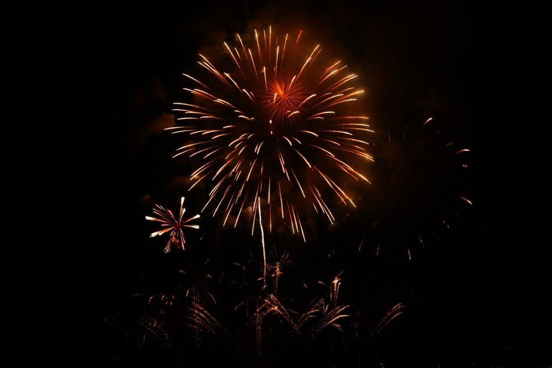 New Year fireworks. Photo courtesy of Pixabay.