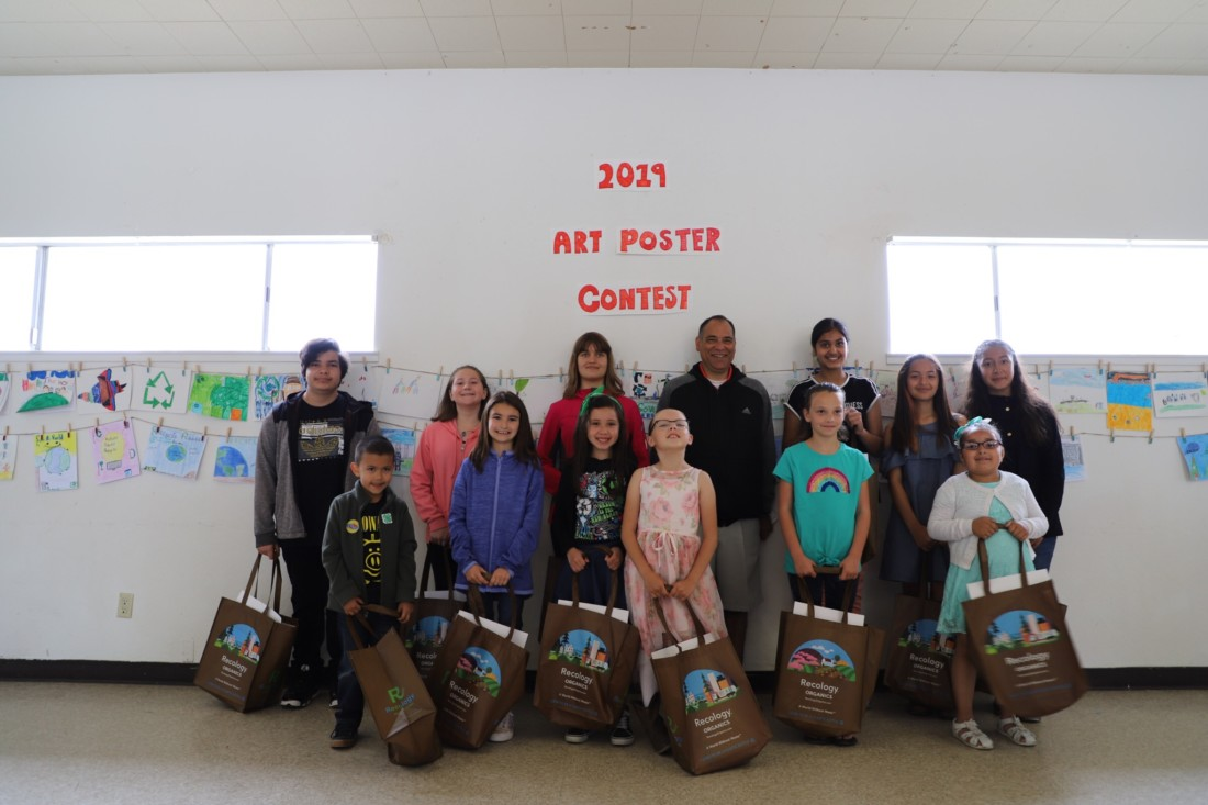 12 of the 15 winners from the 2019 art poster contest. Photo courtesy of SBC Integrated Waste Management.
