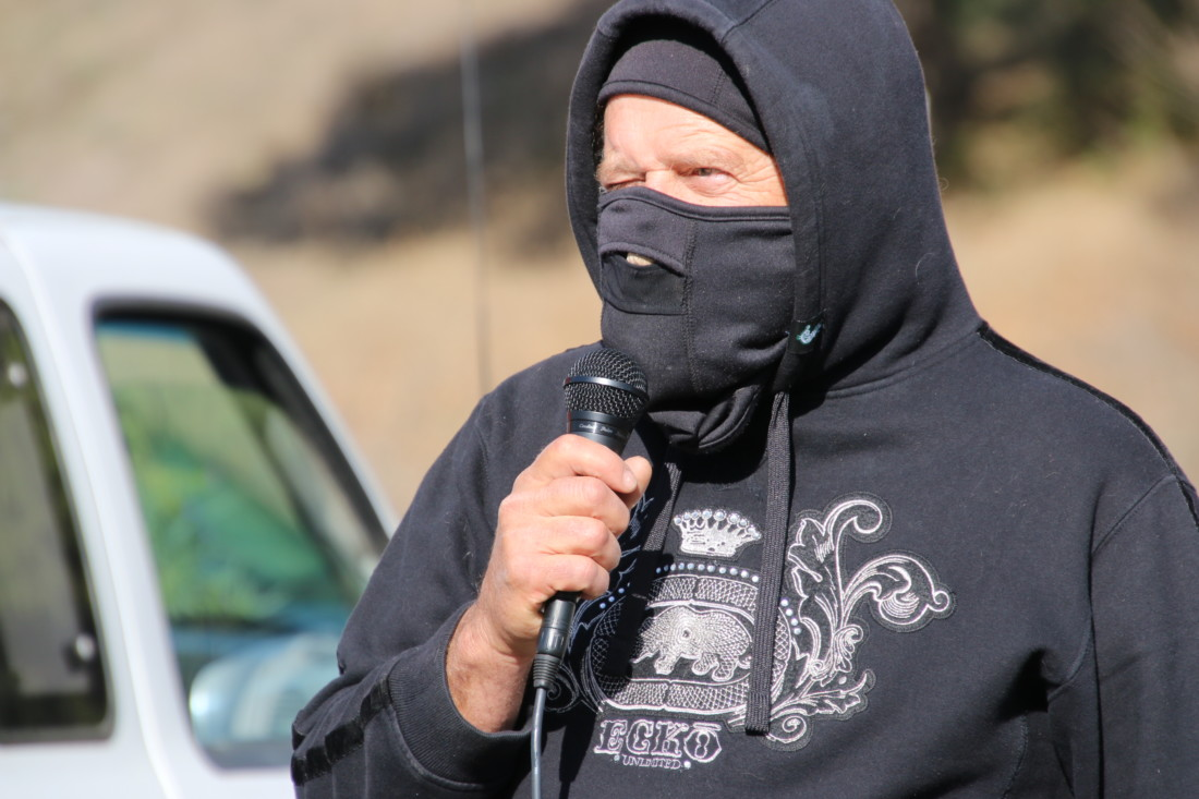 """PORC President Andy Hsia-Coron accused San Benito County supervisors of being """"bad actors."""" Photo by John Chadwell."""