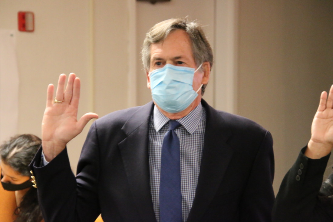 Bill Tiffany said he wants to help 'shepherd the board and community through the pandemic.' Photo by John Chadwell.