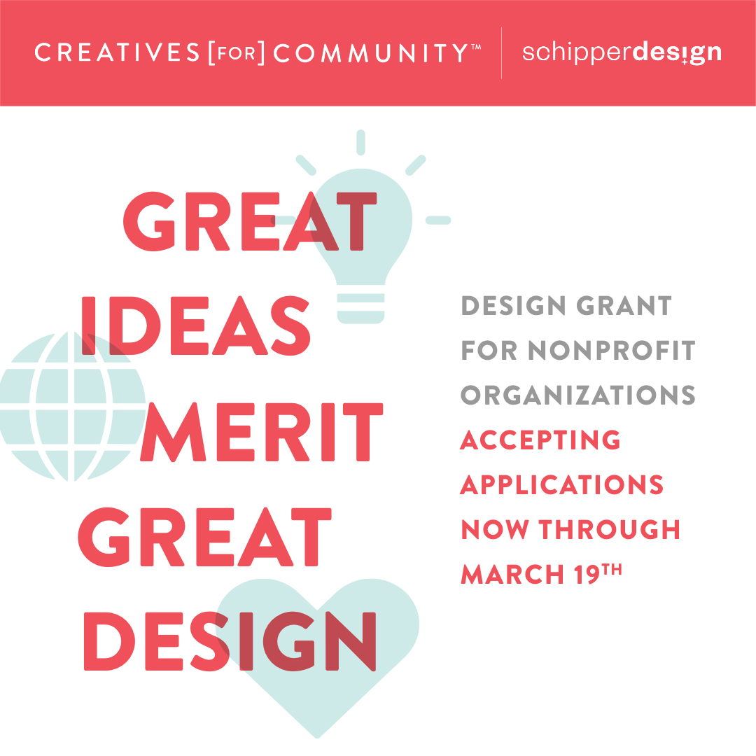Creatives for Community Call For Entries 2021. Provided by Schipper Design.