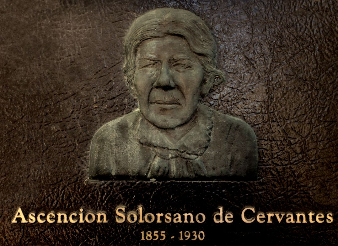 Ascencion Solorsano on her memorial at Mission San Juan Bautista. Photo by Robert Eliason.