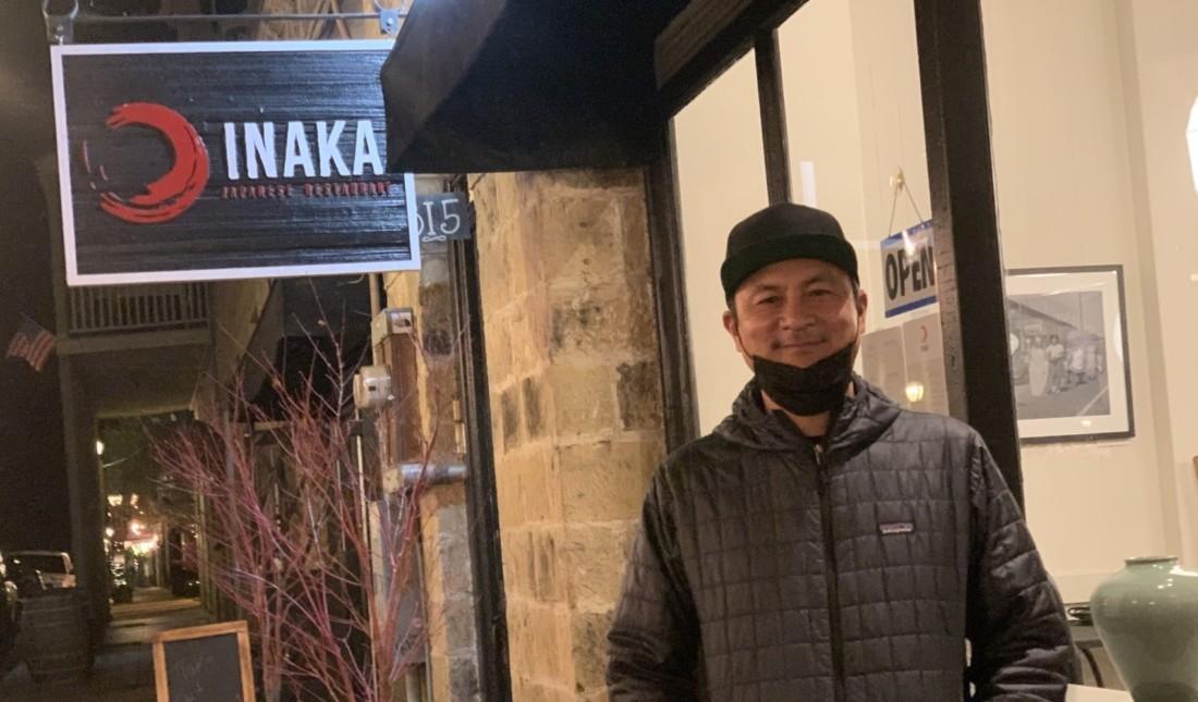 Dave Io of Inaka Japanese Restaurant. Photo by Robert Eliason.