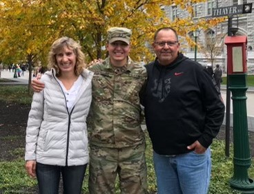 Matthew's parents visited him while he attended West Point. Photo courtesy of Matthew Gastello.