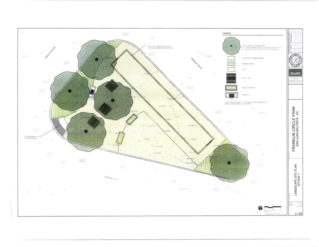 The old designs for the proposed park. Image from meeting agenda packet.