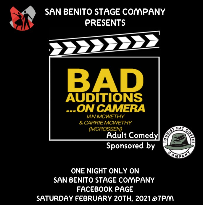 Show airs Saturday, Feb. 20. Image provided by San Benito Stage Company.